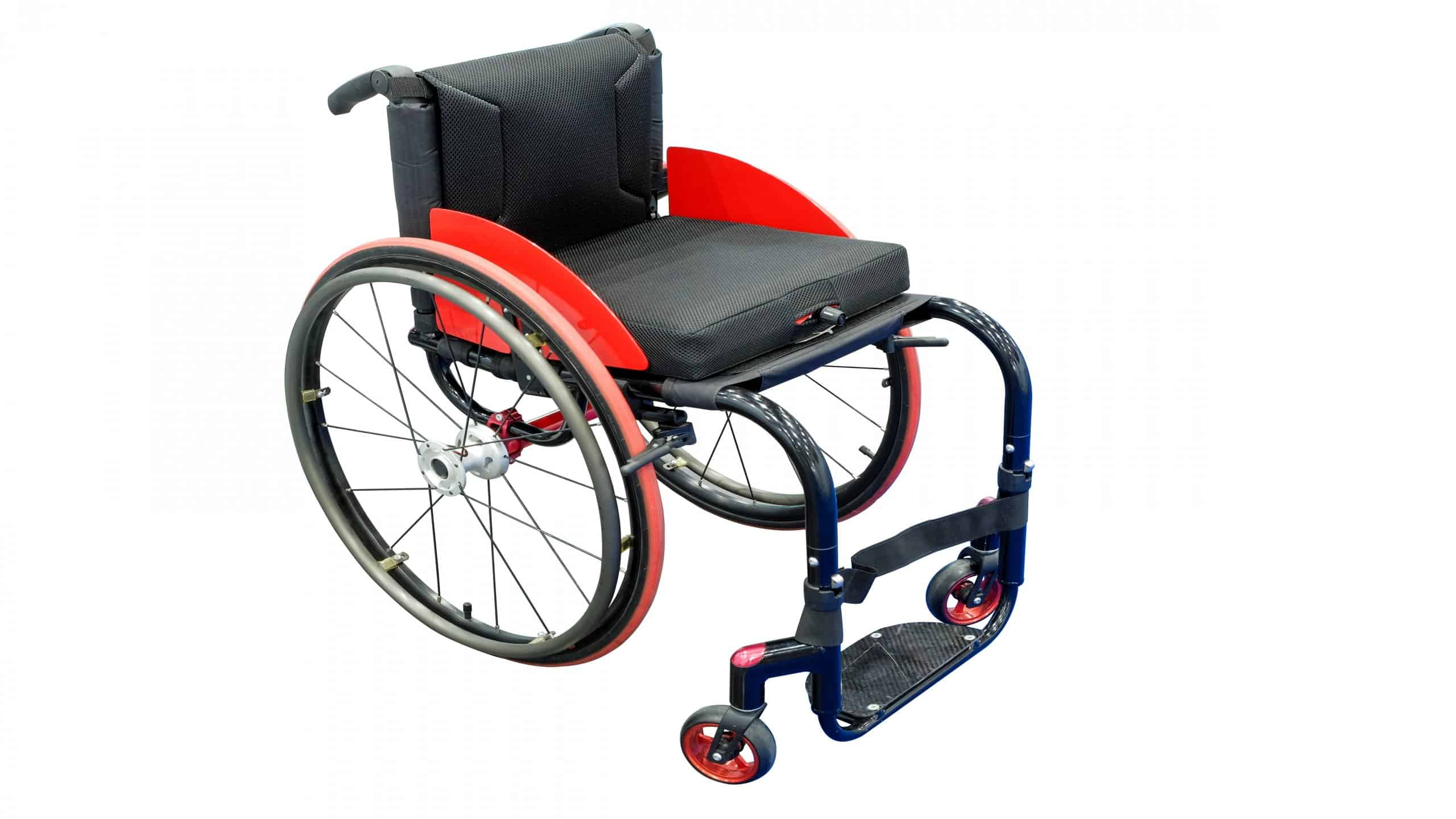 Black Wheelchairs for patients with a black seat cushion